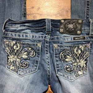 MISS ME Jeans 24x 33 JP5465B Bootcut Fleur de lis